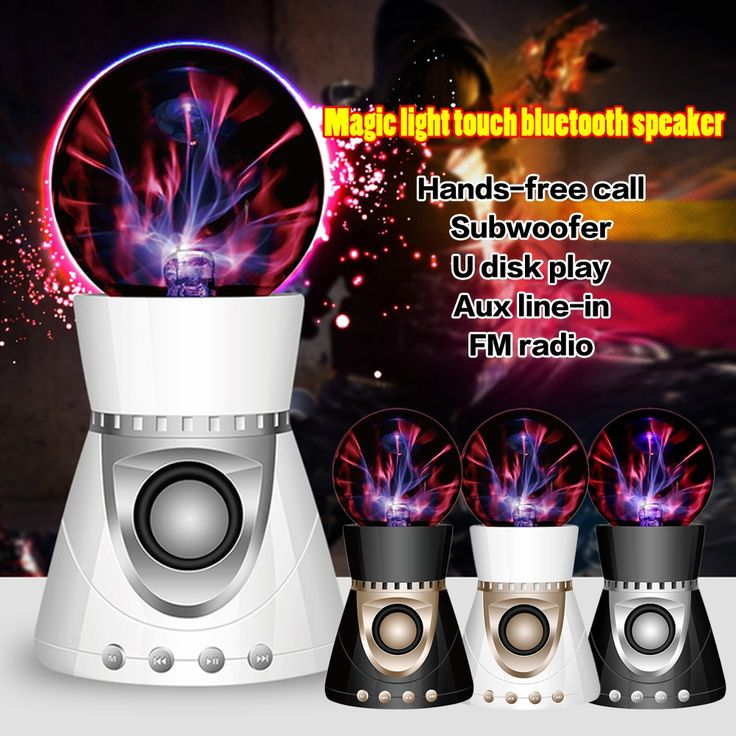 (27.23$)  Buy here - http://aimix.worlditems.win/all/product.php?id=32721269189 - 100% Original Bluetooth Wireless Magic Mini Plasma Ball Light Flash Music Speaker Portable TFCard Play AUX-In For iphone samsung