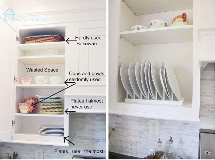 Kitchen Organization Plate Rack Ideas Remodelando La Casa Inside Cabinets Cabinet Plate Rack Cabinet