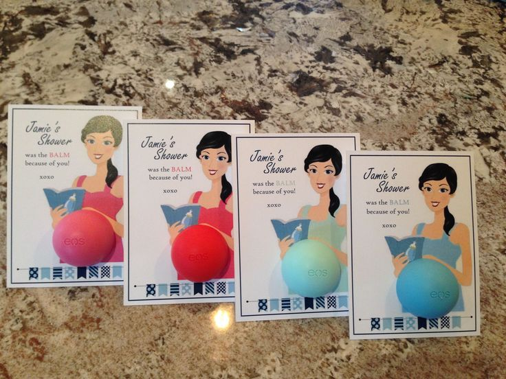 Pinning now to remember later! Too many friends expecting littles :) EOS Baby Shower Favors