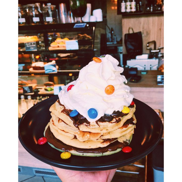 Pancakes with nutella and m&m's 😋  #somniumcafebarcracow  https://m.facebook.com/SomniumCafeBarCracow/