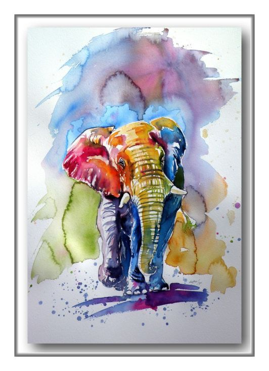 Buy Colorful elephant, Watercolour by Kovács Anna Brigitta on Artfinder. Discover thousands of other original paintings, prints, sculptures and photography from independent artists.