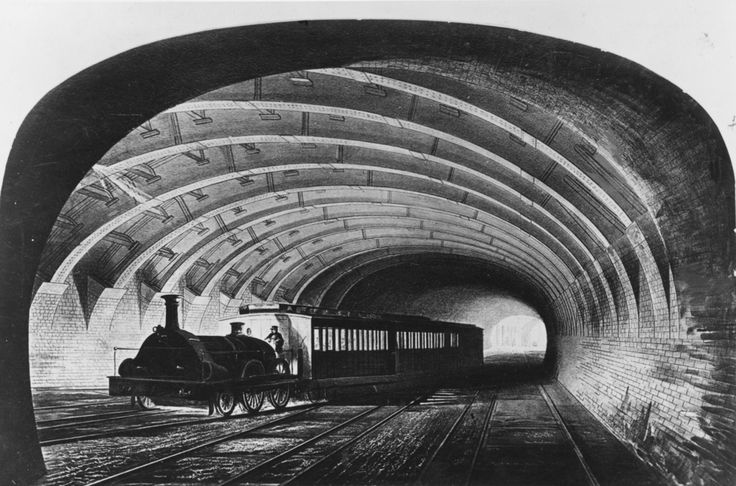 Circa 1863: The first Metropolitan train on the underground line passing through Praed Street, London. | 38 Breathtaking Pictures From The Early Days Of The London Underground