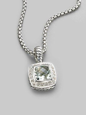 David Yurman Diamond, Prasiolite & Sterling Silver Necklace