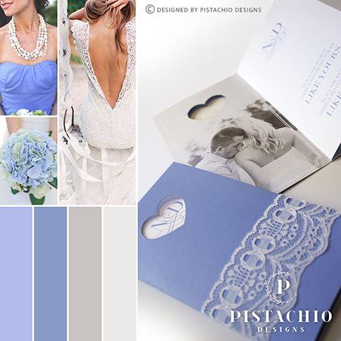 Hydranger wedding invitation by www.pistachiodesigns.co.za
