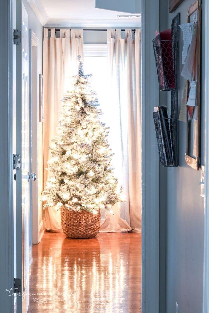 DIY Christmas Tree Basket holiday Christmas, Diy christmas tree