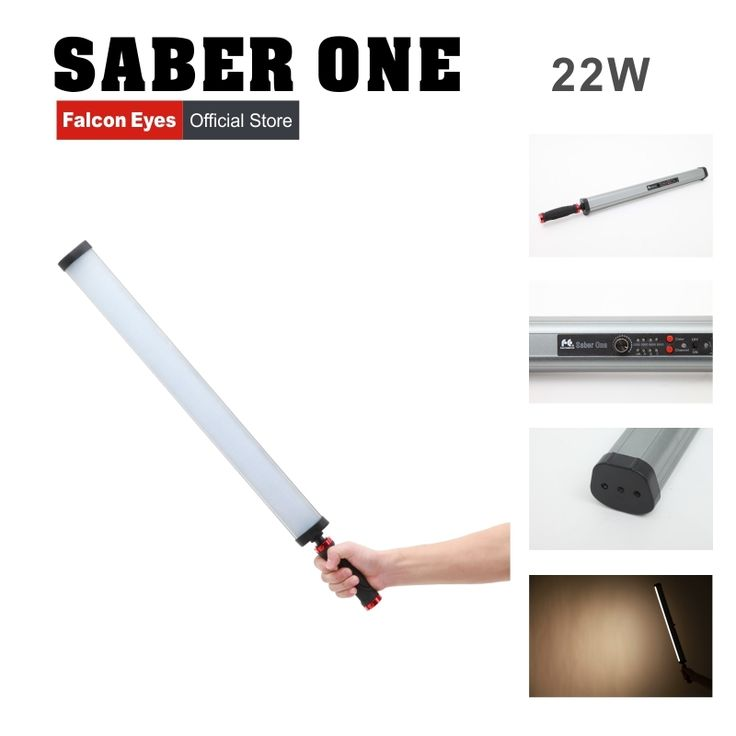 193.00$  Watch now - http://alicyc.worldwells.pw/go.php?t=32712637361 - Falcon Eyes Saber One LED Video Light 22W High CRI 4 Color Temperatures with Dimmable Power Output Handheld LED Light Stick 193.00$