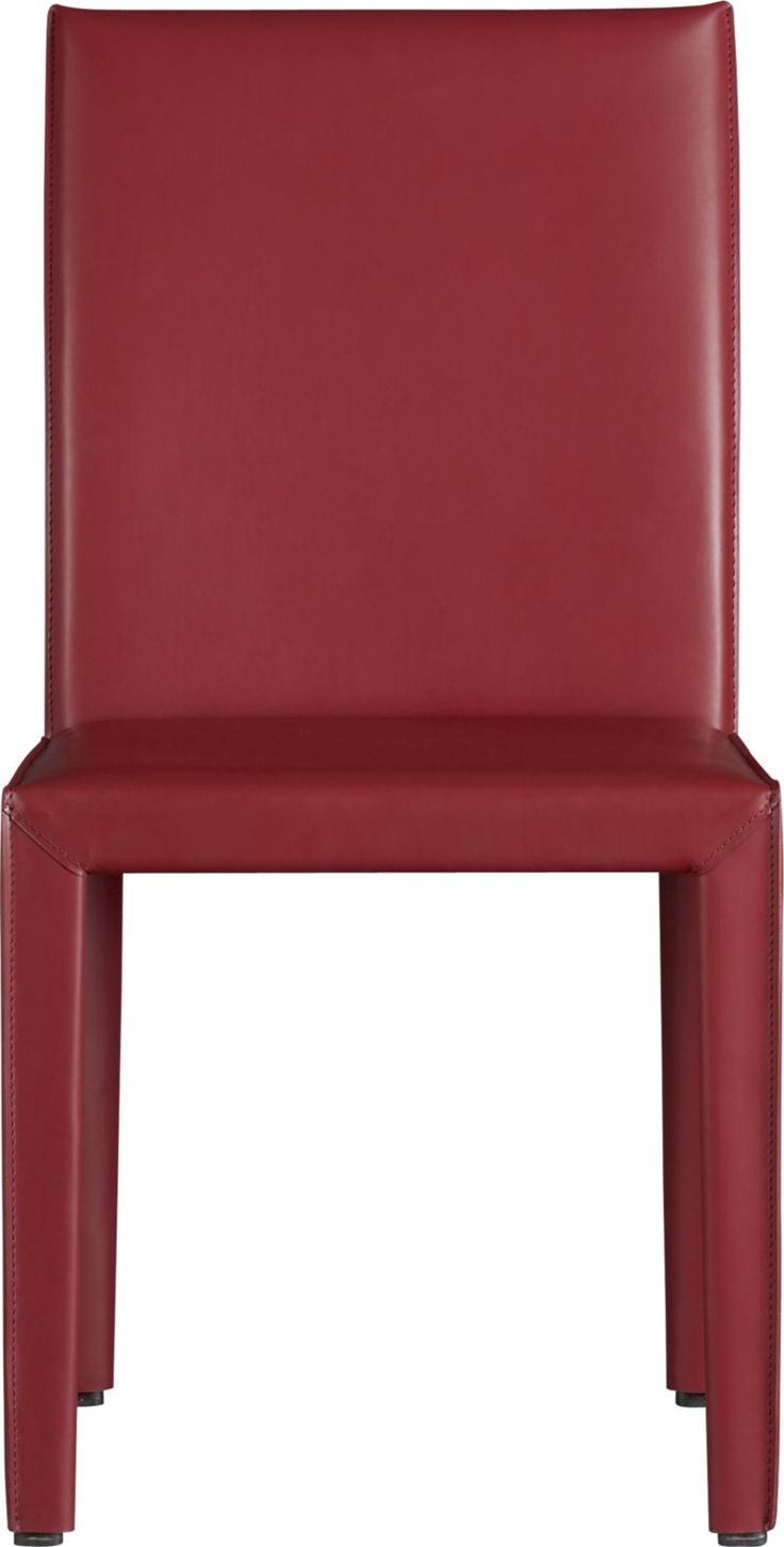 Folio Cherry Bonded Leather Side Chair : Crate and Barrel $259 - also in Ash : Furniture ...