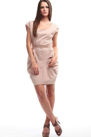 SALE secret PAL - drapiertes Kleid altrosa von Secret Pal auf DaWanda.com