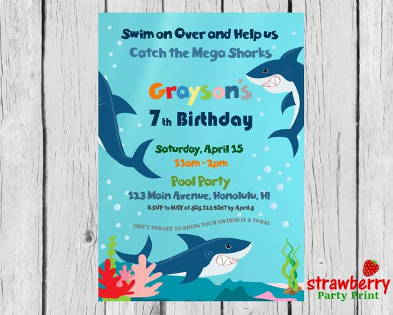 4407 best images about Kids Birthday Invitations – Ocean Party Invitations
