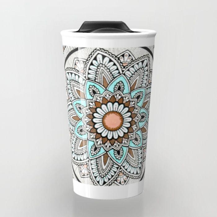 Beautiful Flower Travel Mug by Cosmic Revelations | Society6