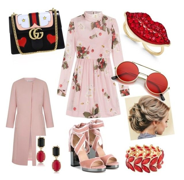 """Chic all week"" by linda-sifis on Polyvore featuring Gucci, Thalia Sodi, RED Valentino, Valentino, 1st & Gorgeous by Carolee, Avenue and ZeroUV"