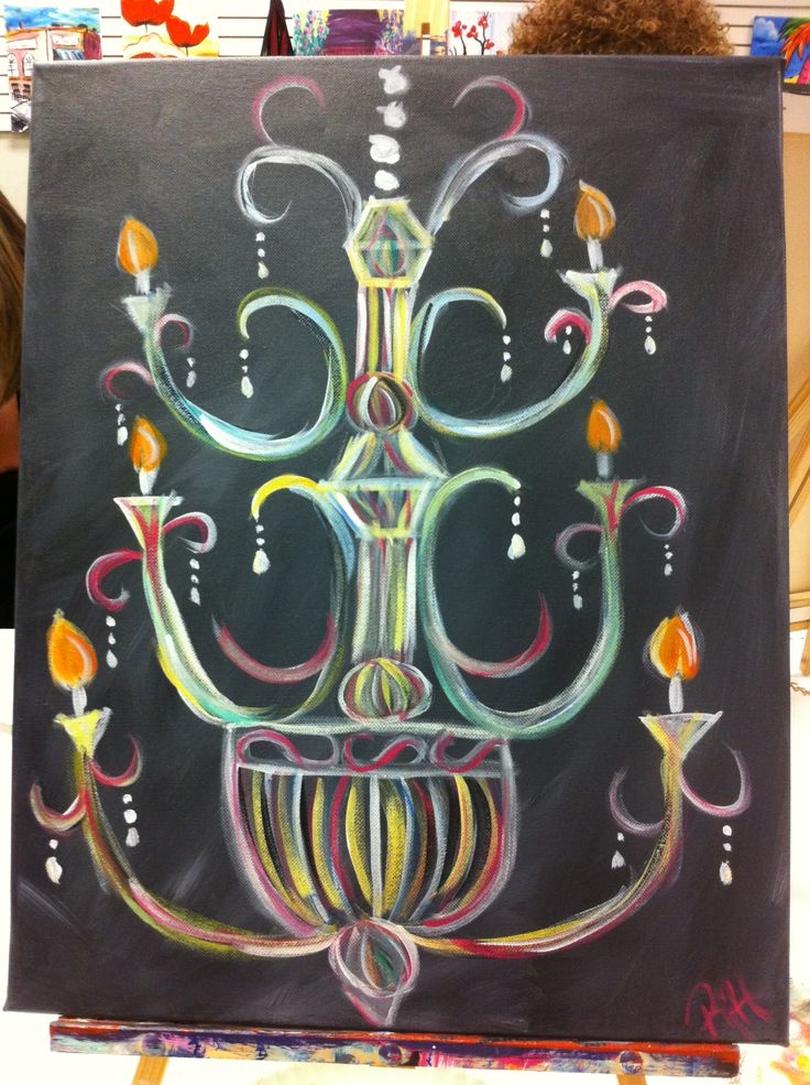 A twist on Chandelier, from Painting with a Twist
