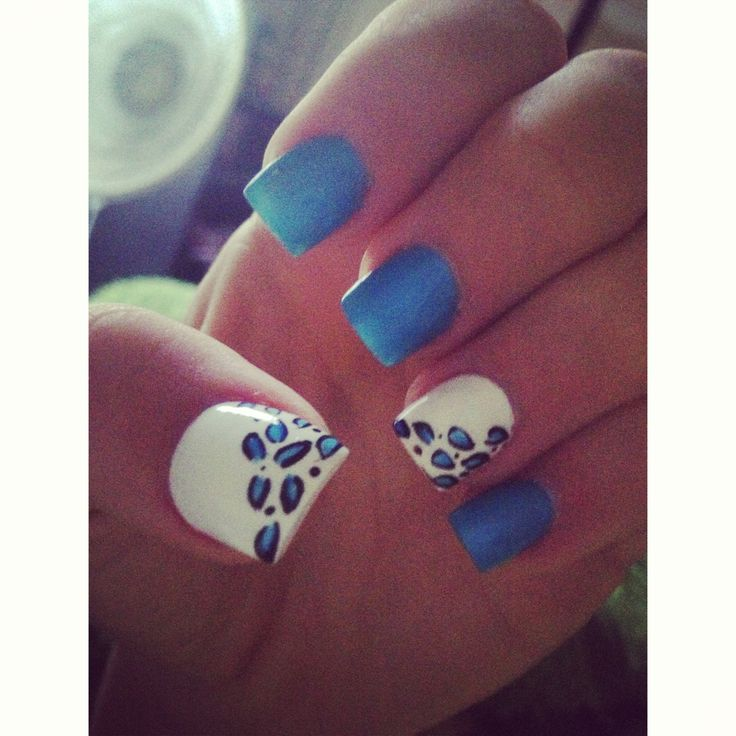 9 best gold nails images on pinterest beauty nails do it nails cheetah blue white acrylic prinsesfo Gallery