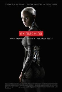 Ex Machina (2015)  A young programmer is selected to participate in a breakthrough experiment in artificial intelligence by evaluating the human qualities of a breathtaking female A.I.  Director: Alex Garland Writer: Alex Garland Stars: Alicia Vikander, Domhnall Gleeson, Oscar Isaac