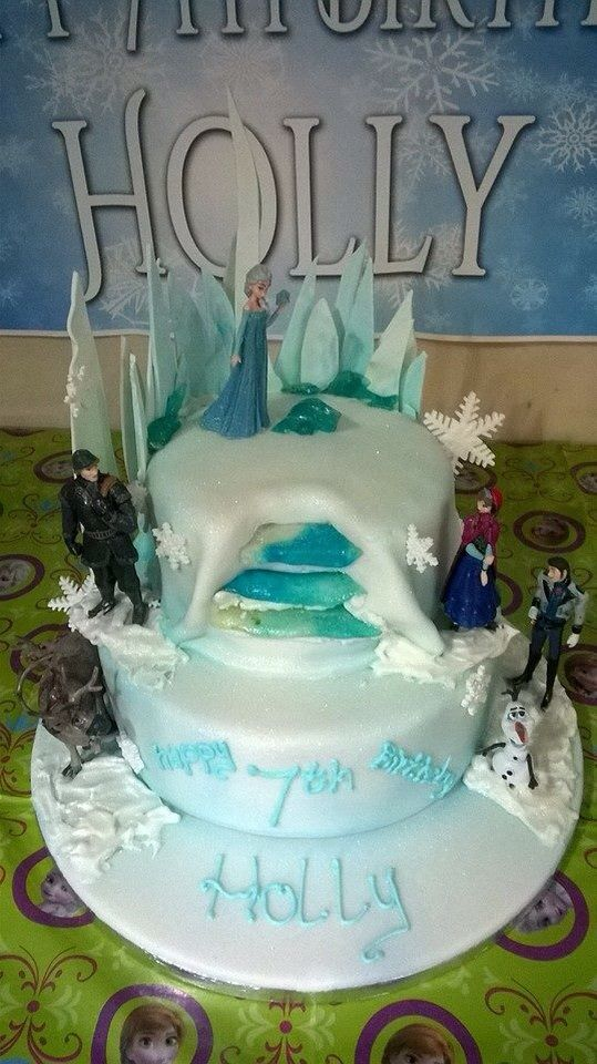 And another sparkly frozen cake