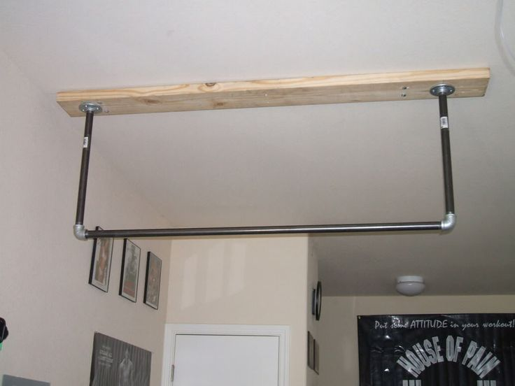 Lovely Homemade Ceiling Mounted Pull Up Bar