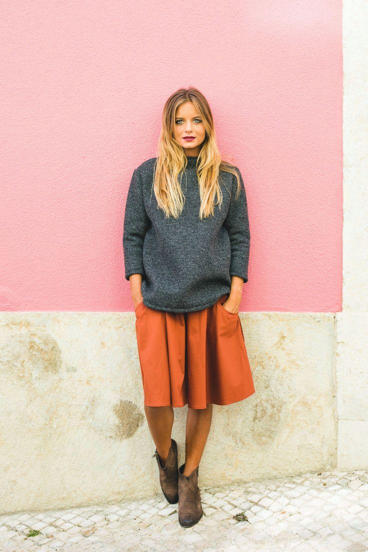 9959 - camila skirt - brick | Camila