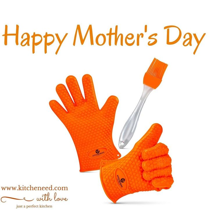 Want to protect your mother's hands? Ideal gift for Mother's Day are Silicone BBQ Grilling Cooking Gloves!!! Click on:   http://www.amazon.com/Kitcheneed-Cooking-Resistant-Silicone-Surprise/dp/B016WM1RCY   No risk! Lifetime Warranty! Your mother will love them!    #mother'sday #kitcheneed #bbqgloves #cooking #barbecue #gift #mother #present #food #baking #siliconegloves