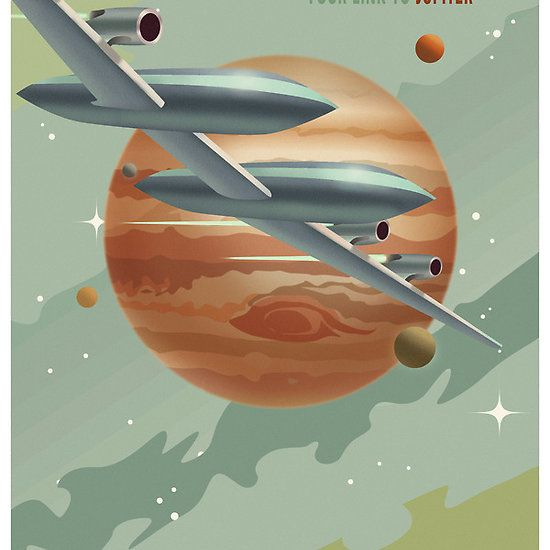 Jupiter Travel Poster