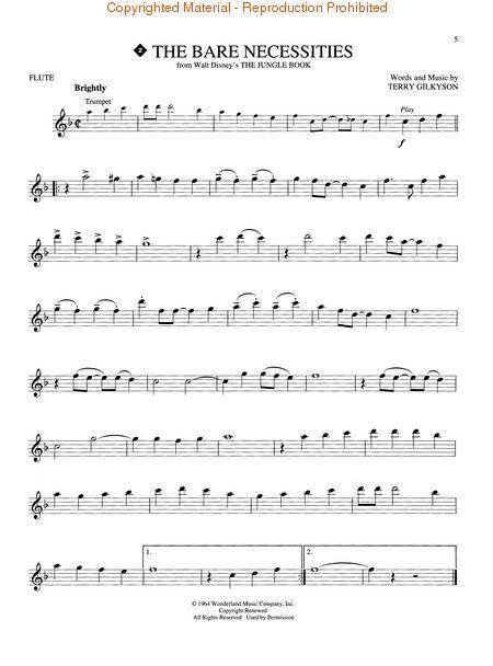sheet music flute disney - Google Search