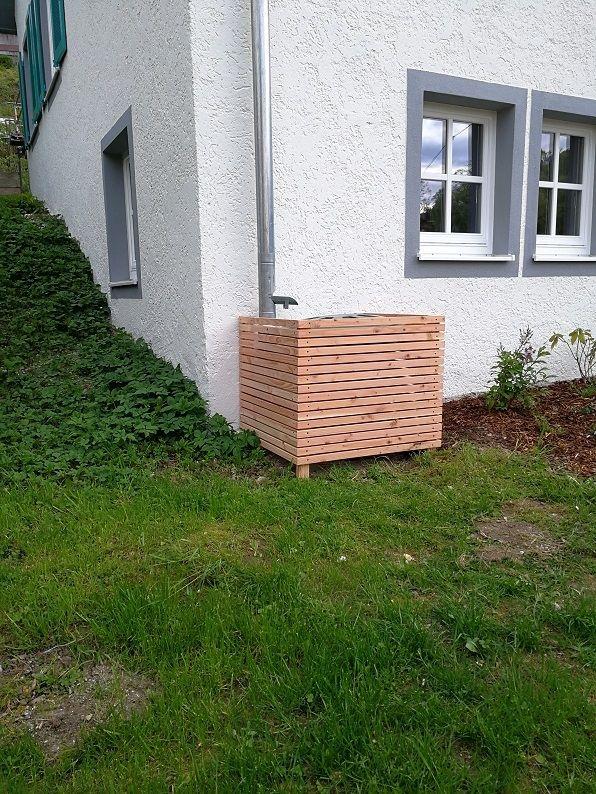 einfache Verkleidung für Regentonne Bauanleitung zum selber bauen