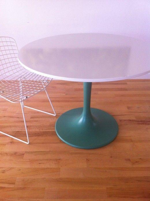 Ikea Docksta table painted