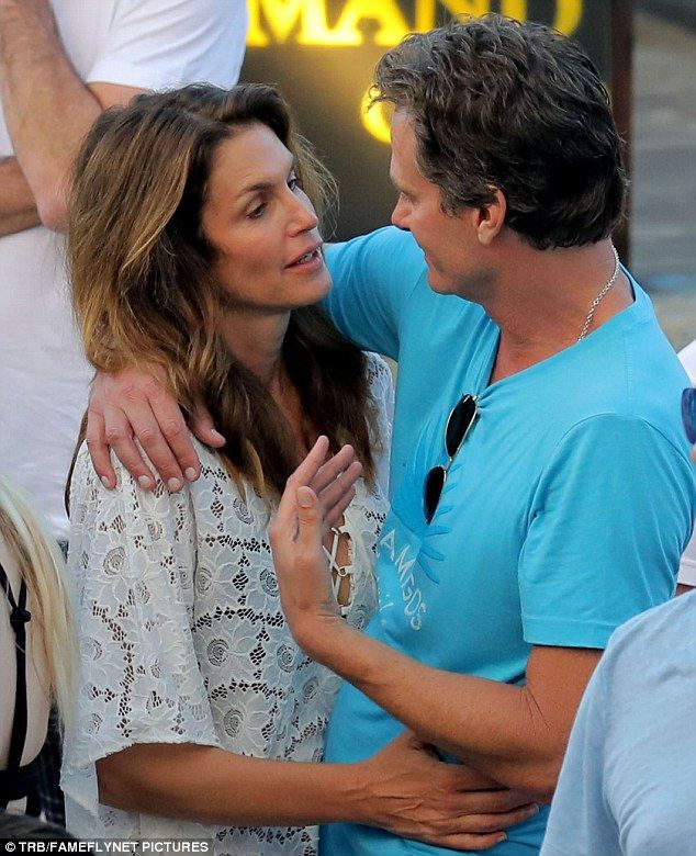 Getaway: Cindy Crawford and Rande Gerber are among the celebrities spending New Year's on the Caribbean island of St. Barts