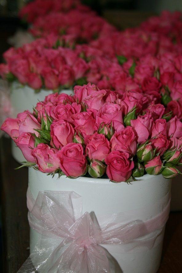 Mini Rose table centerpieces