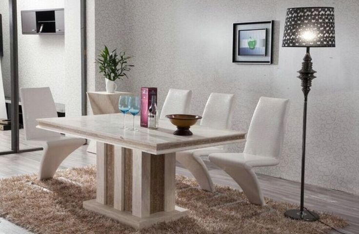 1699.00$  Buy now - http://alim95.worldwells.pw/go.php?t=32492132554 - Marble Table Natural Travertine Dining Table Set Luxury High Quality Natural Store Marble Dining Furniture Table Set NB-175