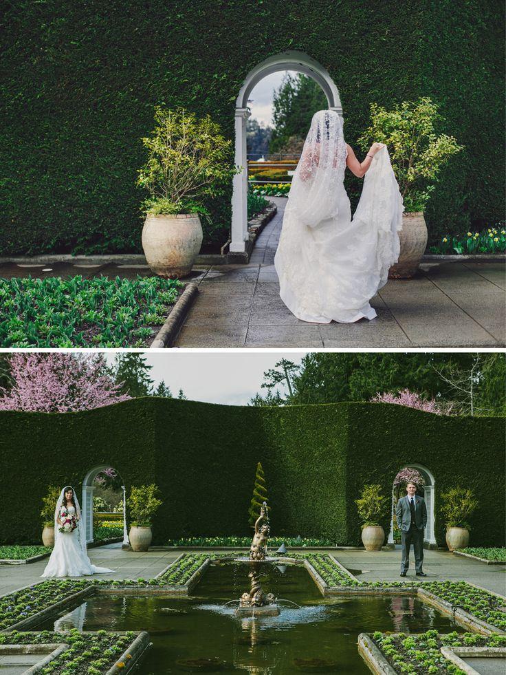 Marissa and David's Wedding at Butchart Gardens    Victoria Wedding Photographer #wedding #butchartgardens #vancouverislandwedding #gardens #gardenwedding