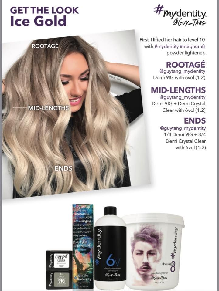 Get The Ice Gold Look With Guy Tang S Mydentity Exclusive To Salon Services In The Uk For More Daily Inspiratio Haarfarben Formeln Balayage Guy Tang Balayage