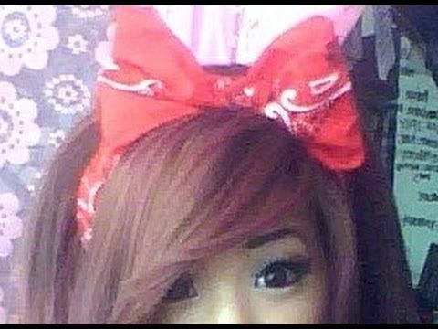How to: Bow headband using a bandanna - YouTube