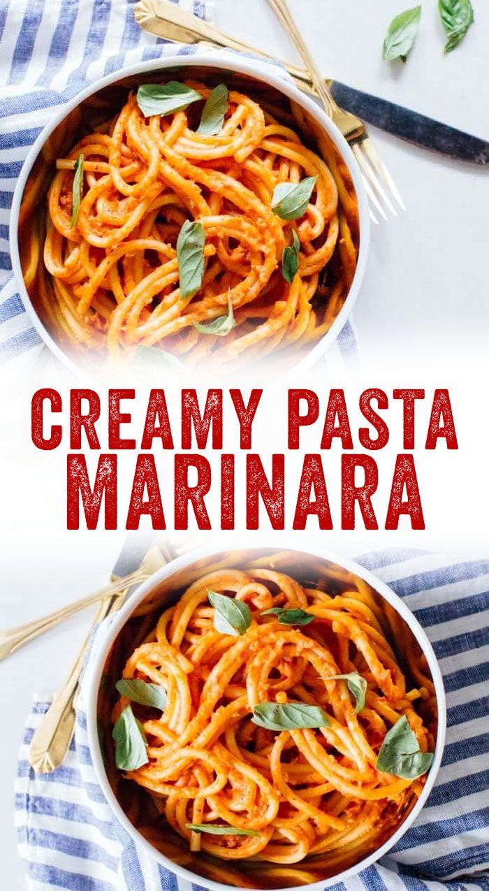 Creamy Marinara Sauce Pasta A Couple Cooks Recipe Greek Yogurt Pasta Sauce Creamy Pasta Marinara Recipe