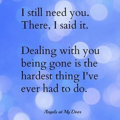 I can't think of anything that could be more difficult than letting you go.