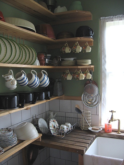 Scullery in Dylan Thomas's house in Swansea.