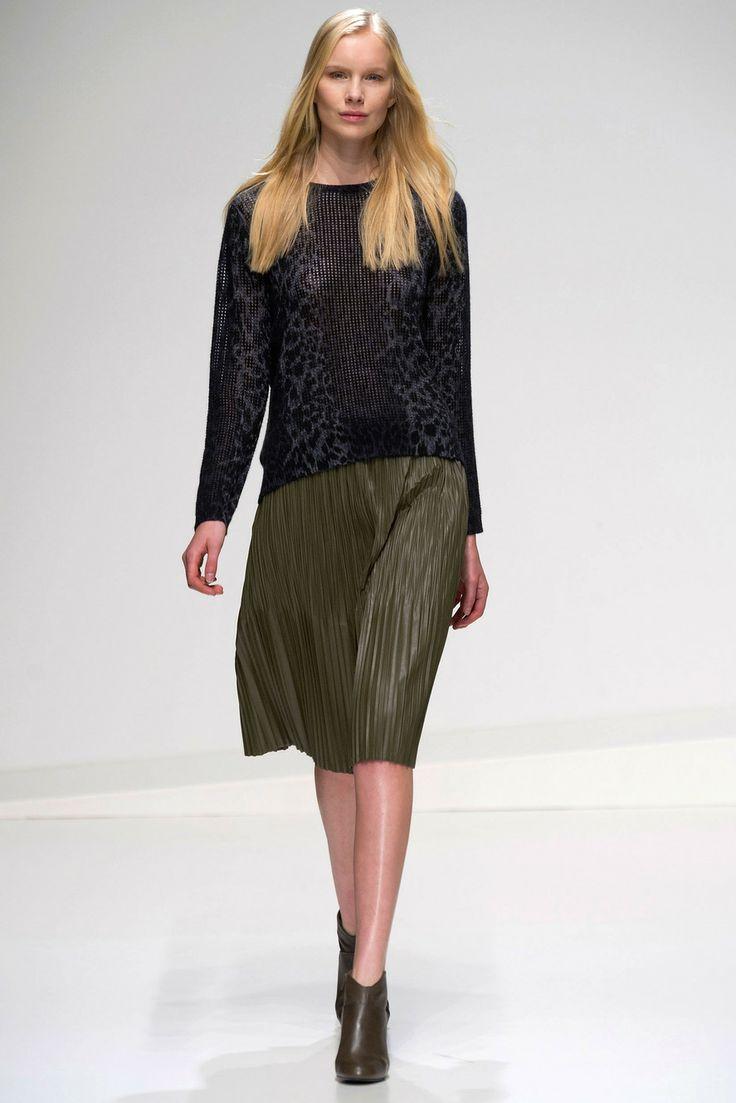 "Stefanel Runway #MFW plisse skirts will still be ""in"""