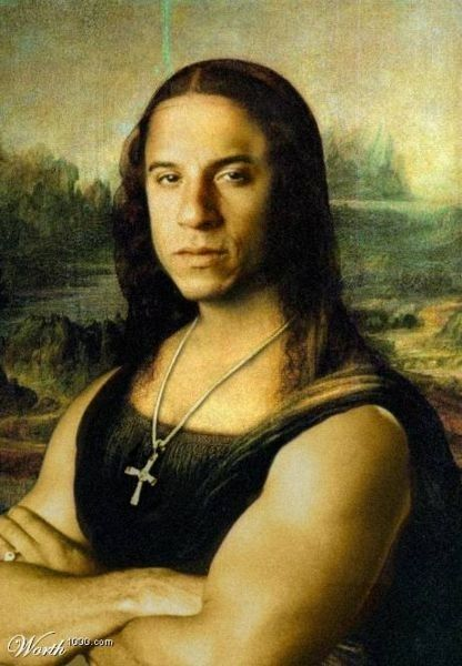 Da Vinci's Diesel | Vin Diesel As The Mona Lisa And 14 Other Insane Pieces Of FanArt