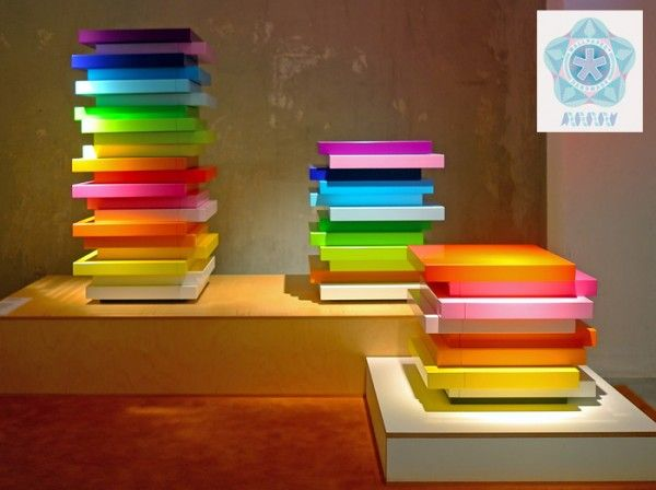 """Architect Behind Tokyo's Iconic Rainbow Bank Unveils Colorful """"Mille-Feuille"""" Storage Series"""