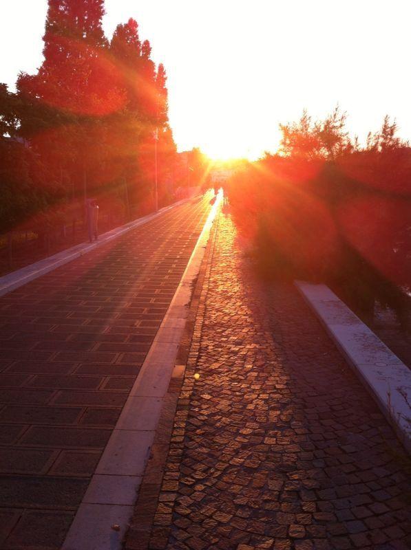 Ejercicio al atardecer - Chioggia - Venecia - Italia