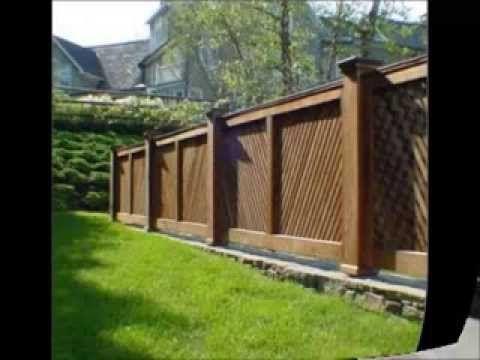 Modele de garduri din lemn - galerie video cu imagini