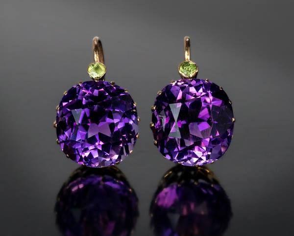 Victorian Siberian Amethyst Earrings  #Earrings #Jewelry