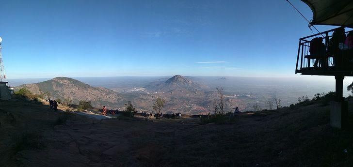 A beautiful sunrise point called Nandi Hills near Bangalore,India