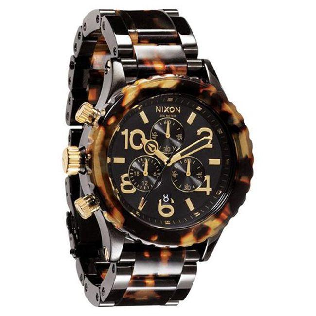 Nixon Women's A037679-00 Chronograph Tortoise Quartz Plastic Bracelet Watch - Overstock Shopping - Big Discounts on Nixon Nixon Women's Watches