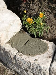 Masonry Cement Here is what you need:  Stone Lime stone, crushed stone or gravel Masonry cement Level Cotton twine Large nail, pencil or piece of wood Wheelbarrow Measuring tape Manual gravel compactor or a relatively long piece of 4×4 Shovel Oh yes, some light shoveling is involved!