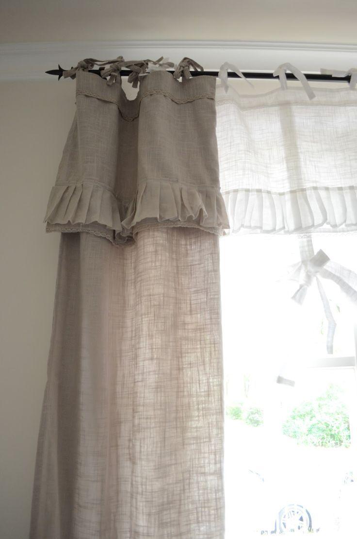 die besten 25 shabby chic vorh nge ideen auf pinterest vorhang raffrosetten vorh nge. Black Bedroom Furniture Sets. Home Design Ideas