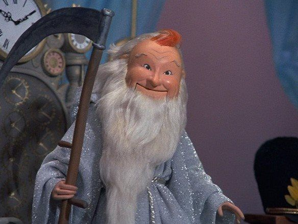 rudolph's shiny new year-1976...Red Skelton as Father Time | Father time,  Rudolph's shiny new year, Newyear