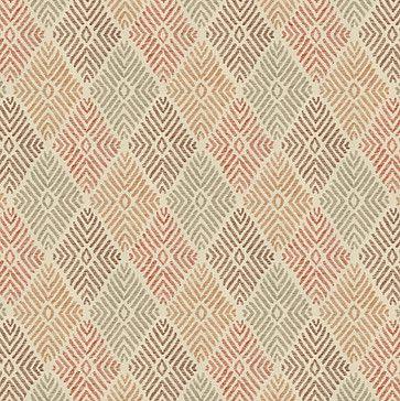 Red & Orange Diamond Block Print Fabric eclectic-upholstery-fabric