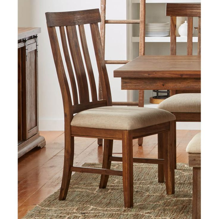 A-America Dawson Slat-back Upholstered Chair - Set of 2 - AAME394