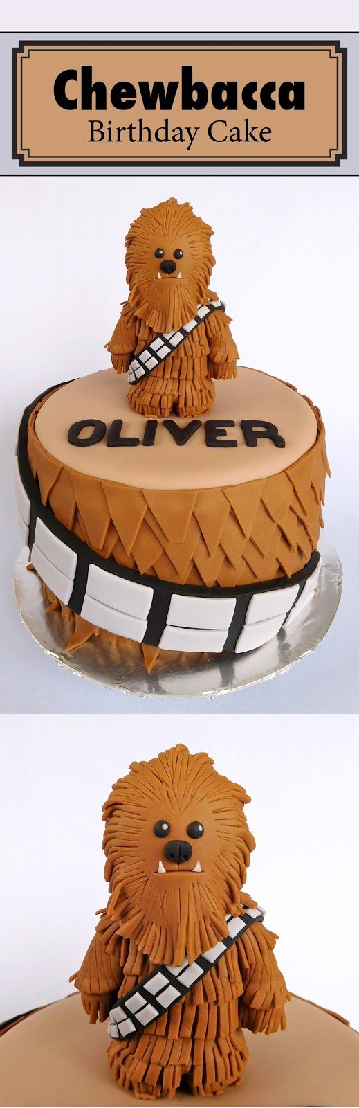 chewbacca cake - star wars cake