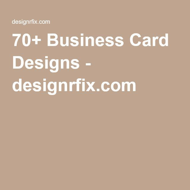 70 business card designs
